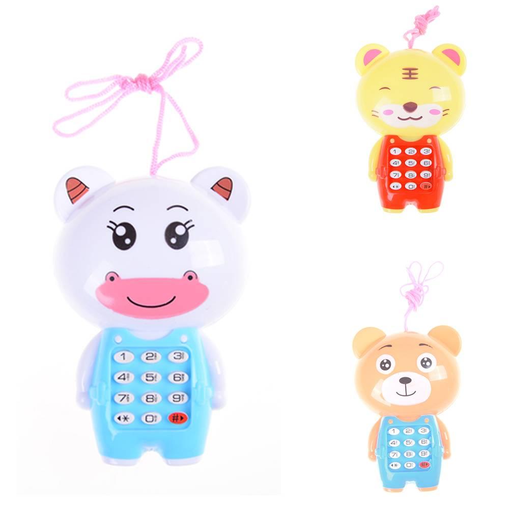 Kawaii Baby Cartoon Muziek Telefoon Speelgoed Educatief Toy Telefoonvoor Kids Kinderspeelgoed Willek