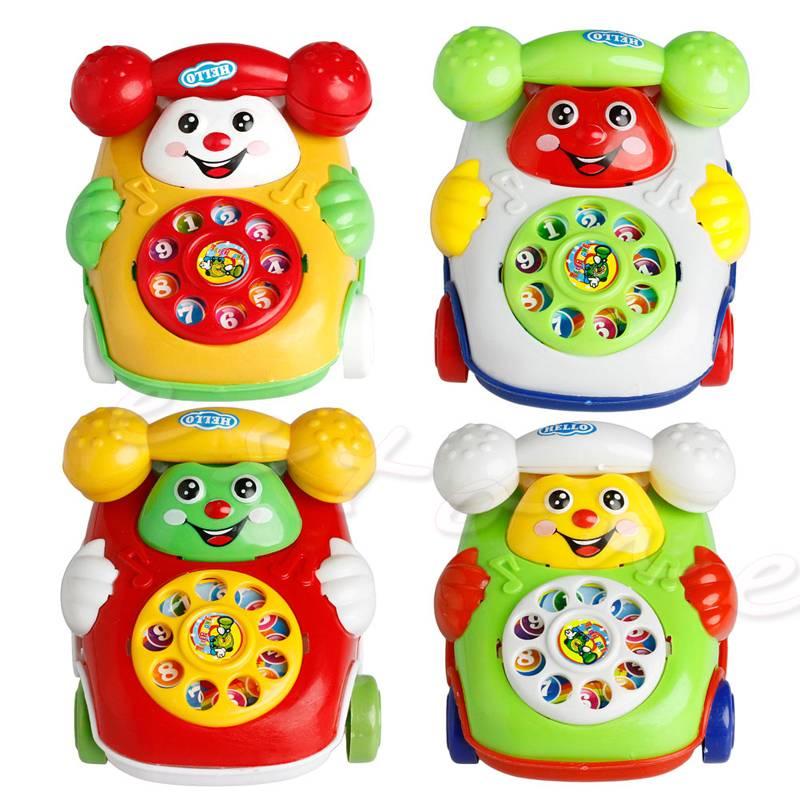1 St Baby Speelgoed Muziek Cartoon Telefoon Educatief Developmental Kids Speelgoed Gift-B01