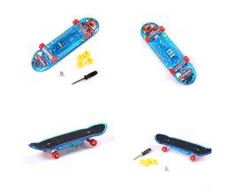 LED Mini Skateboard Toys Finger Board Boy Kids Table Game Finger Skateboard Toy LED FlashingRandom Color