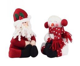 Kerst 2 stks/partij Kerstman Snowman Nieuwjaar Kerstversiering Geschenk Kerst Wijnfles CoverBag Ornament