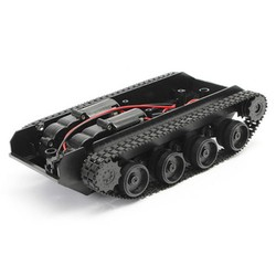 MyXL MUQGEWDIY Smart Robot Tank Chassis Kit Rubber Track Crawler voor Arduino 130 Motor tank Afstandsbediening rc Controle plastic speelgoed