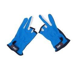Overhandigen Vissen Handschoenen Buitensporten Ademend antislip Handschoenen 3 Laag Uitgesneden Vingers Beschermende Crossfit 1 Paar Beschermen apparatuur