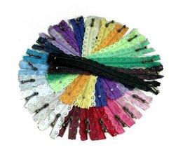 Gratis Schip + 50 stks/partij DIY20 cm #3 Nylon Coil Lace Rits Ritsen + Trekker voor Tailor riool Craft Bag