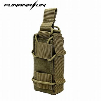 1000D Nylon Molle Tactical Magazine Pouch Jacht Draagbare Pistool Holster Outdoor Utility EDC Zaklamp Pack Bag