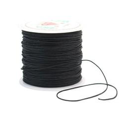 MyXL 1 Roll Cord 0.6mm Zwart Duurzaam Nylon Koord Craft Kralen Touw DIY Kralen Draad Sieraden Armband Kettingen Maken Multifunctionele gebruik