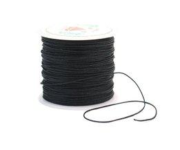 1 Roll Cord 0.6mm Zwart Duurzaam Nylon Koord Craft Kralen Touw DIY Kralen Draad Sieraden Armband Kettingen Maken Multifunctionele gebruik