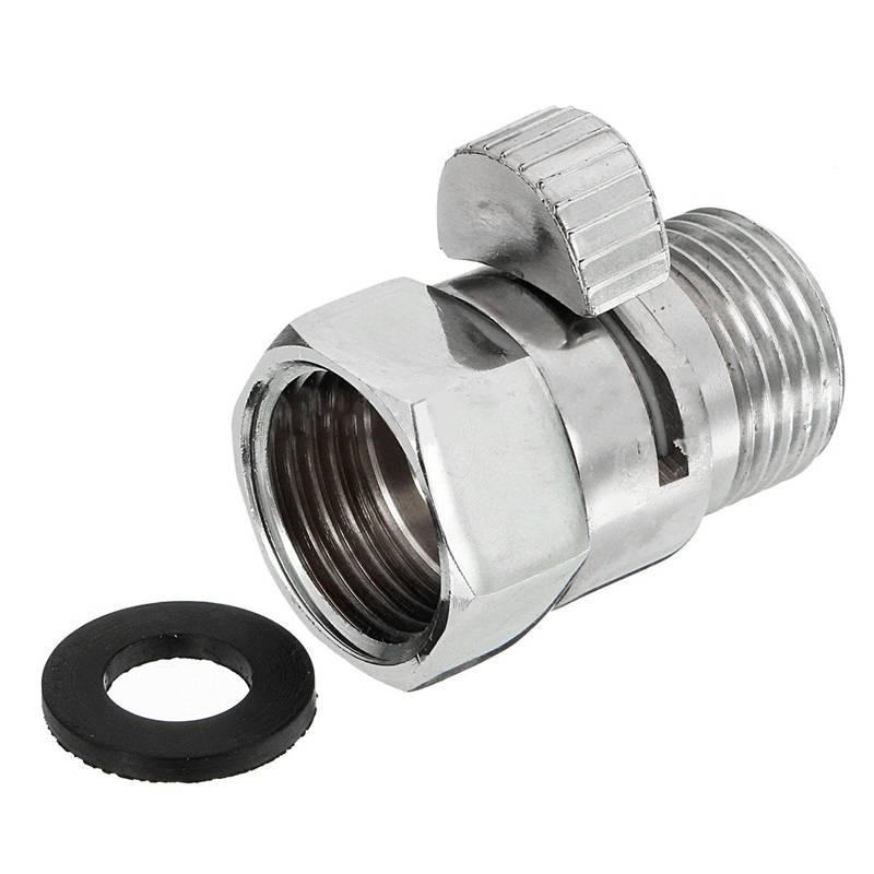 """G1/2 """"Full Messing Douchekop Kleppen Flow Control Afsluitklep Connector Koppeling Voor Badkamer Accessoires"""