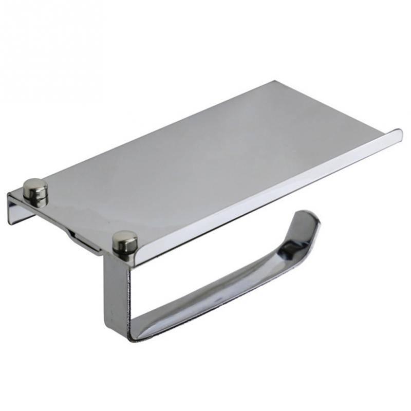 Roestvrij Wandmontage Badkamer Toiletrolhouder Rack Tissue Roll Stand Badkamer Accessoire Onderdelen