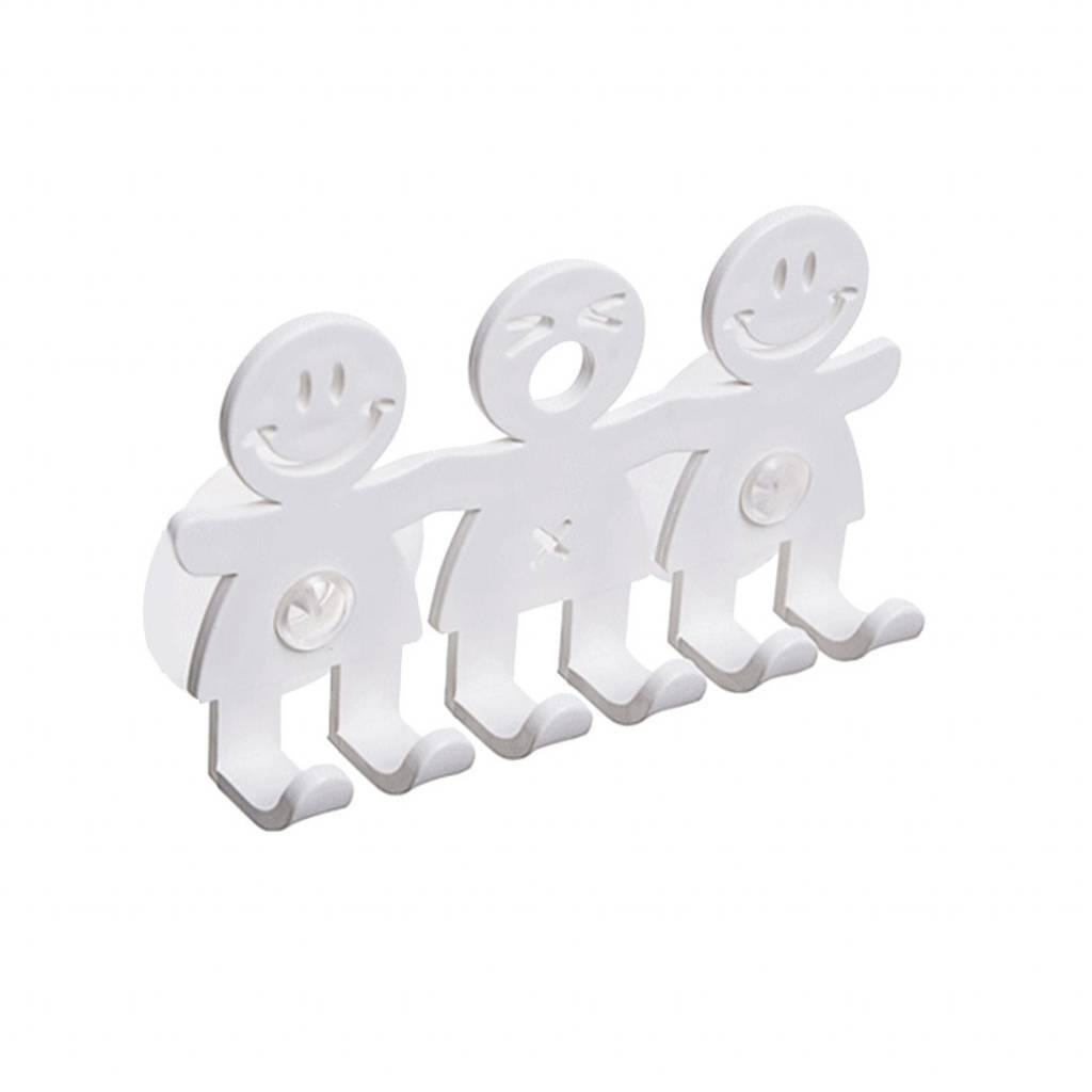 1 stks Zuignap Haken 5 Positie Tandenborstel Houder Badkamer Sets Leuke Glimlach Cartoon Sucker Tandenborstelhouder