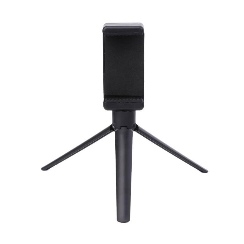 OOTDTY Universele Zwart Plastic Statief Mobiele Telefoon Camera Rotatie Desktop Base Ondersteuning