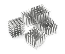 Groothandelsprijs 5 Stks/set CPU IC Chip Aluminium Koellichaam Geëxtrudeerd Koeler Heatsink 20x20x15mm DIY