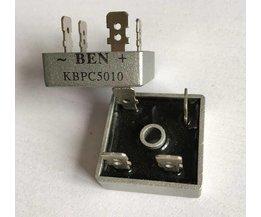 10 stks 50A 1000 V Metal Case Bridge Gelijkrichter SEPTEMBER KBPC5010