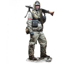 Ongeverfd Kit 1/16 120mm Captain Michel Machine soldaat 120 mmfigure Historische WWII Figuur Resin Kit
