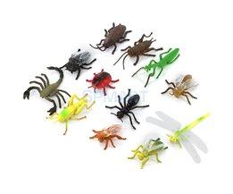 Plastic PVC Insect Animal Model Kids Toy 12 stks multi-color Insect model speelgoed Leuke Animal Modellen Creatieve Geschenken presenteert voor kids