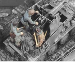1/35 Hars Figuur Model Kit WWII De Duitse assault cannon 3 FIGURES (GEEN TANK) Unassambled Unpainted