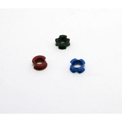 "MyXL 3 stks Boogschieten Peep Sight, TP511, Aluminium, 1/8 ""1/4"" 3/16 ""zwart/blauw/rood"