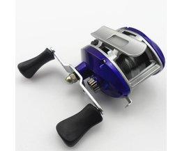 Drop ronde wiel vissen rollen lokken horizontale ronde met kabel winter vissen wiel w61001