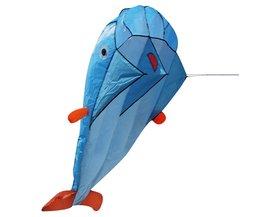 200x73 cm Enorme 3D Parafoil Dolphin Kite met Vliegende Gereedschap Outdoor Fun vierkante Strand Vliegende Speelgoed Leuke Grote Dolfijn Vlieger makkelijk