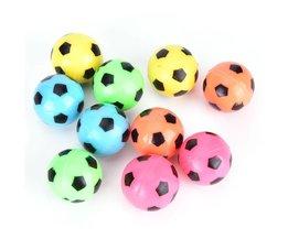 10 stks stuiterende voetbal bal rubber elastische springen kid outdoor bal toyswillekeurige kleur