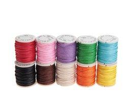 10 stks/set 10 M 1 MM Waxed Katoenen Koorden Strings Touwen voor DIY Ketting Armband Craft Maken (Willekeurige Kleur)