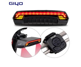 GIYO Laser Bike Achterlicht USB Oplaadbare LED Fietsen Achterlicht Lamp 85 Lumen Mount Rode Lantaarn Voor Fietslicht Accessoires