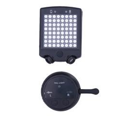 MyXL 64 LEDs Fiets Achterlicht Fiets Afstandsbediening Richtingaanwijzers Achterlicht Cycling Oplaadbare Waarschuwing Veiligheid Laserlicht