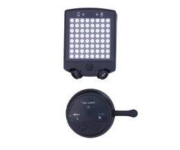 64 LEDs Fiets Achterlicht Fiets Afstandsbediening Richtingaanwijzers Achterlicht Cycling Oplaadbare Waarschuwing Veiligheid Laserlicht
