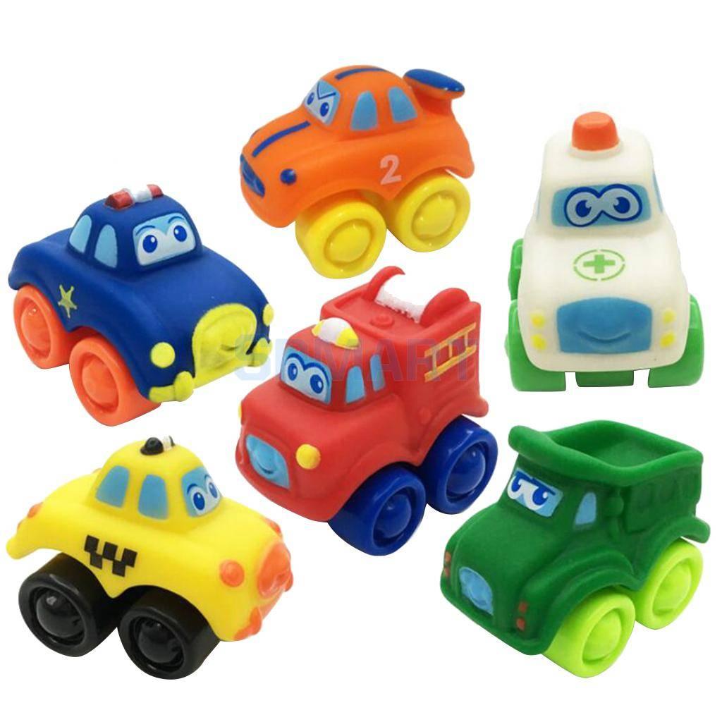 Rubber Plastic Mini Auto Model Speelgoed voor Peuter Baby Voorschoolse Kid Play Cognitieve Kinderen