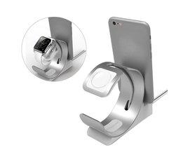 Besegad 2 in 1 Aluminiumlegering Laadstation Holder ipad iPhone 7 6 S 6 S iWatch Apple Horloge Serie 1 2 3 II Edition