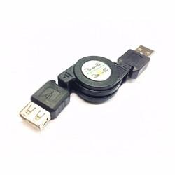 MyXL USB 2.0 Een Mannelijke Een Vrouwelijke M/F Extension Intrekbare Usb-kabel Cord Black