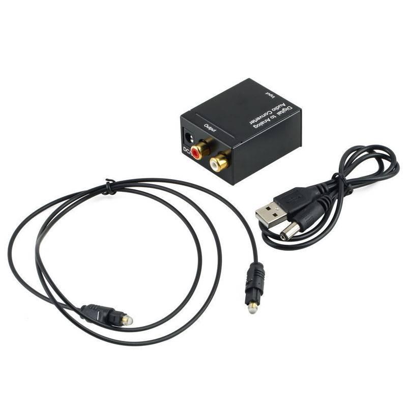 Voor Digitale Optische Toslink Coax Naar Analoog RCA L-R Audio + Kabel Video Audio Converter Adapter