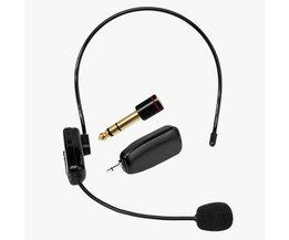 2.4G Draadloze Microfoon Toespraak Headset Megafoon Radio Mic Voor Luidspreker Onderwijs Vergadering Gids Mic Met 6.5mm Adapter L3EF