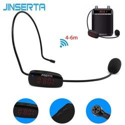 MyXL JINSERTA FM Draadloze Microfoon Headset Megafoon Radio MIC Voor Luidspreker Onderwijs Tour Guide Voice Versterker Microfoons