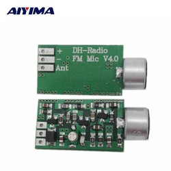 MyXL AIYIMA Mini FM Microfoon Fm-zender Module MIC Draadloze Audio Zender 100 MHz Mini Bug Afluisteren Dictagraph Interceptor