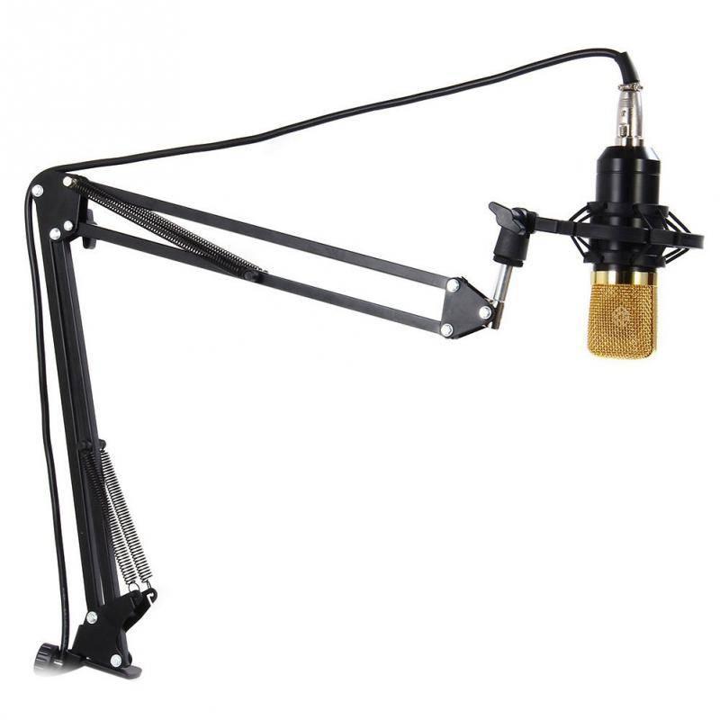 Voor Montage op PC Laptop Professionele Verstelbare Metalen Suspension Scissor Arm Microfoon Standho