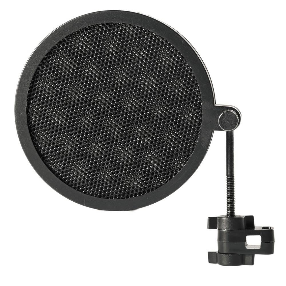 PS-2 Dubbellaags Studio Microfoon Mic Wind Screen Pop Filter-Swivel Mount-Masker Teruggeschrokken Vo