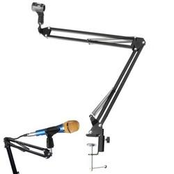 MyXL Mic Standhouder Microfoon Scissor Arm Suspension Boom Mount Shock Houder Studio Geluid Omroep Voor Studio Broadcast PN