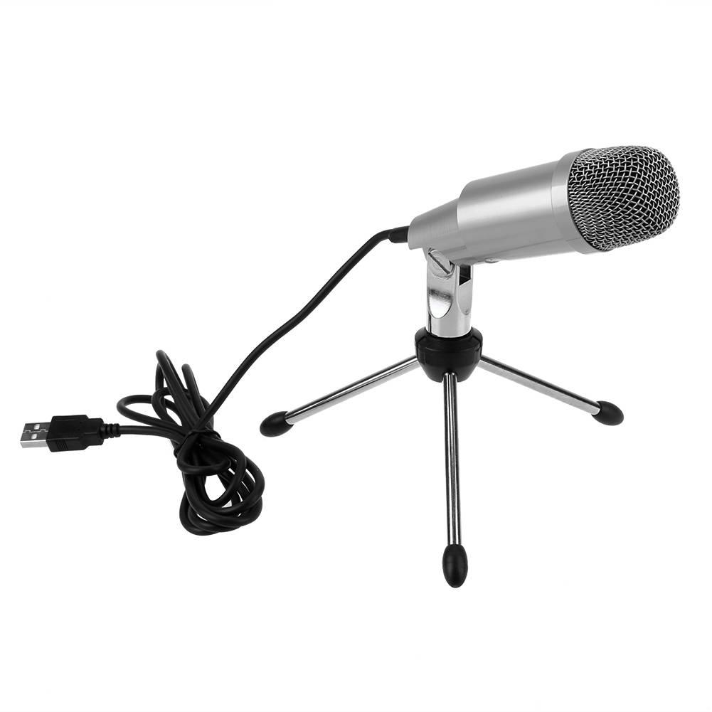 K-2 Professionele Condensator Microfoon voor Computer PC Laptop Opname Zingen USB Microfoon Kit Mic