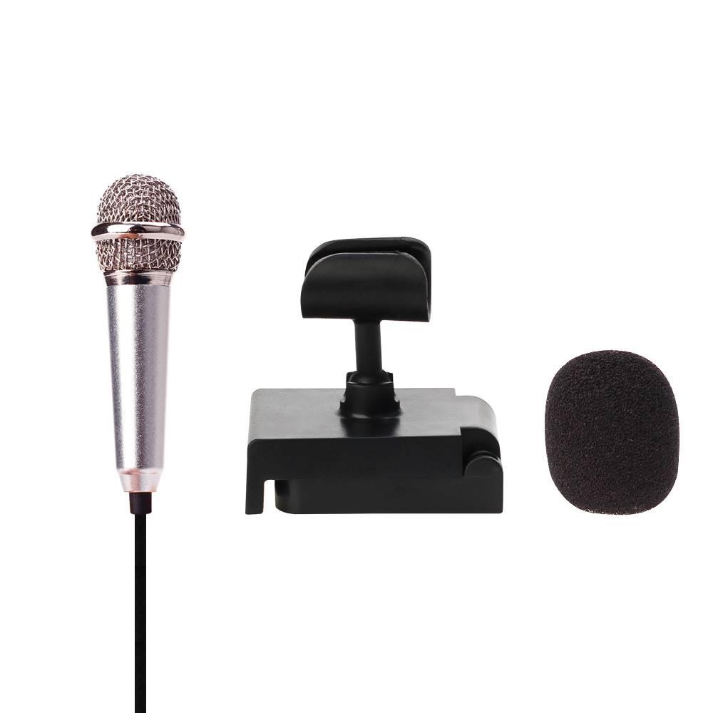 Metalen MINI Jack 3.5mm Studio Professionele Microfoon Handheld Mic voor Mobiele Telefoon Computer v