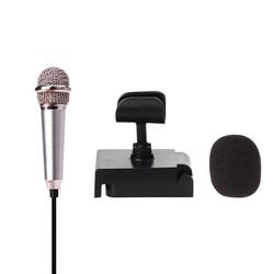 MyXL Metalen MINI Jack 3.5mm Studio Professionele Microfoon Handheld Mic voor Mobiele Telefoon Computer voor iPhone ipad karaoke