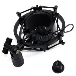MyXL Zwart Studio Opname Microfoonhouder Condensator Microfoon Stand Shockmount Mic Houder Clip Clamp Mike Schorsing Spider