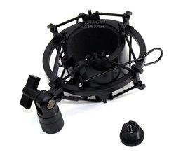 Zwart Studio Opname Microfoonhouder Condensator Microfoon Stand Shockmount Mic Houder Clip Clamp Mike Schorsing Spider