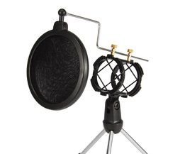 Microfoon Stand met Mesh Pop Filter voor Online Chatten/Opname/Zingen/Webcast Statief Holder iphone Samsung