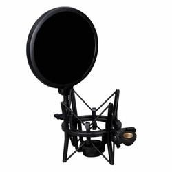 MyXL Professionele microfoon houder met geïntegreerde microfoon Mic pop shield pop filter