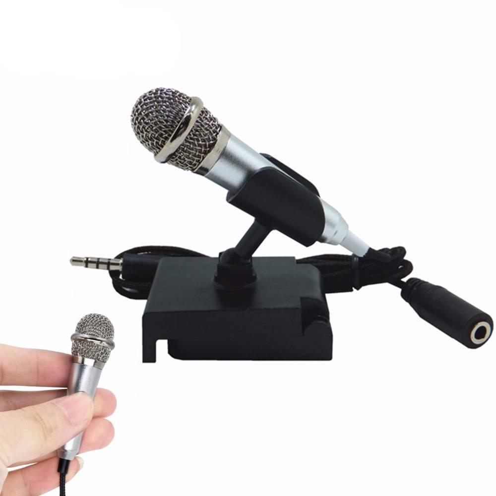 Draagbare Mini smart microfoon, Stereo Condensator Microfoon voor voor mobiele telefoon PC Laptop Ch