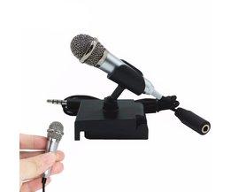 Draagbare Mini smart microfoon, Stereo Condensator Microfoon voor voor mobiele telefoon PC Laptop Chatten Zingen Karaoke 3.5mm set