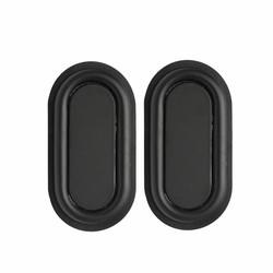 MyXL 1 Paar Zwart 78x41mm Bass Speaker Passieve Radiator Auxiliary Bass Rubber Trillingen Plaat