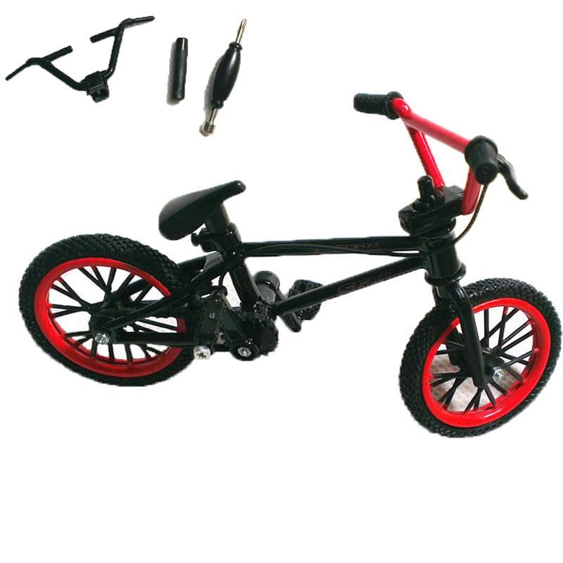 1 Set Zwart & Rood Mini Vinger BMX Fiets Tech Vinger Bikes Speelgoed BMX Fiets Model Fiets Gadgets N