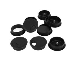 10 Stks Ronde Plastic Computer Bureau Kabeldoorvoer Gat Cover 50mm Zwart