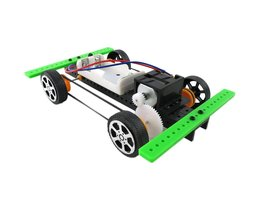 Collectie Zelf vergadering DIY Mini Batterij Aangedreven Auto Model Kit Kinderen Kids Educatief SpeelgoedDrop